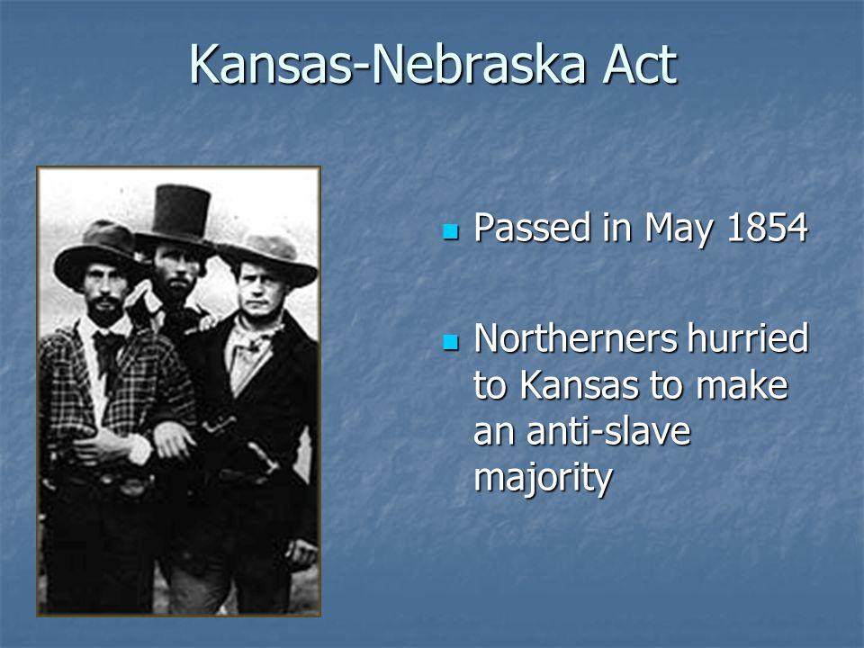 Kansas-Nebraska Act Passed in May 1854