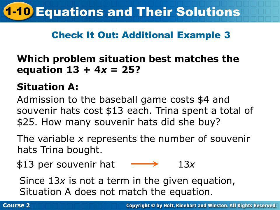 Check It Out: Additional Example 3