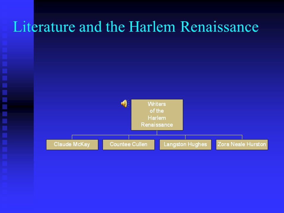 Literature and the Harlem Renaissance