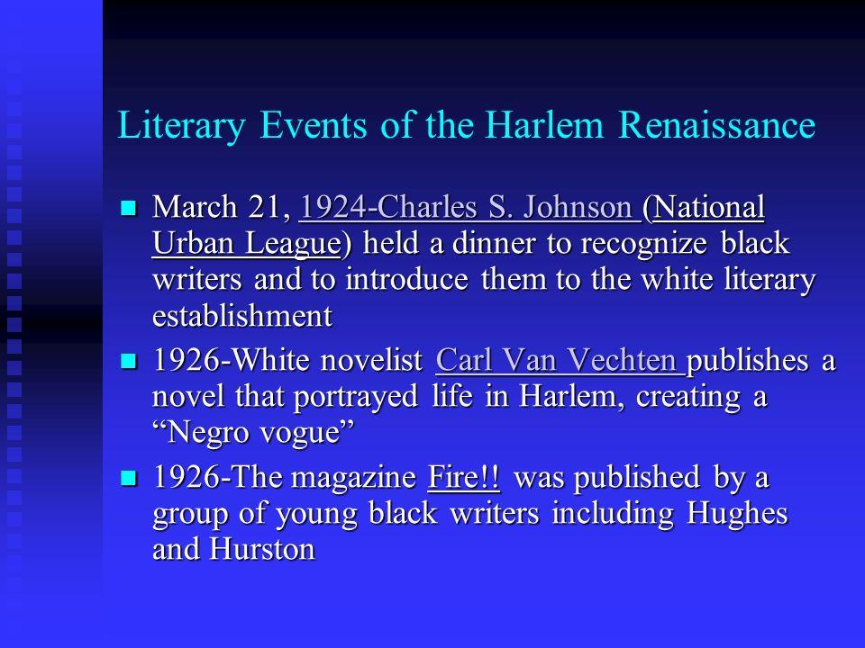 Literary Events of the Harlem Renaissance