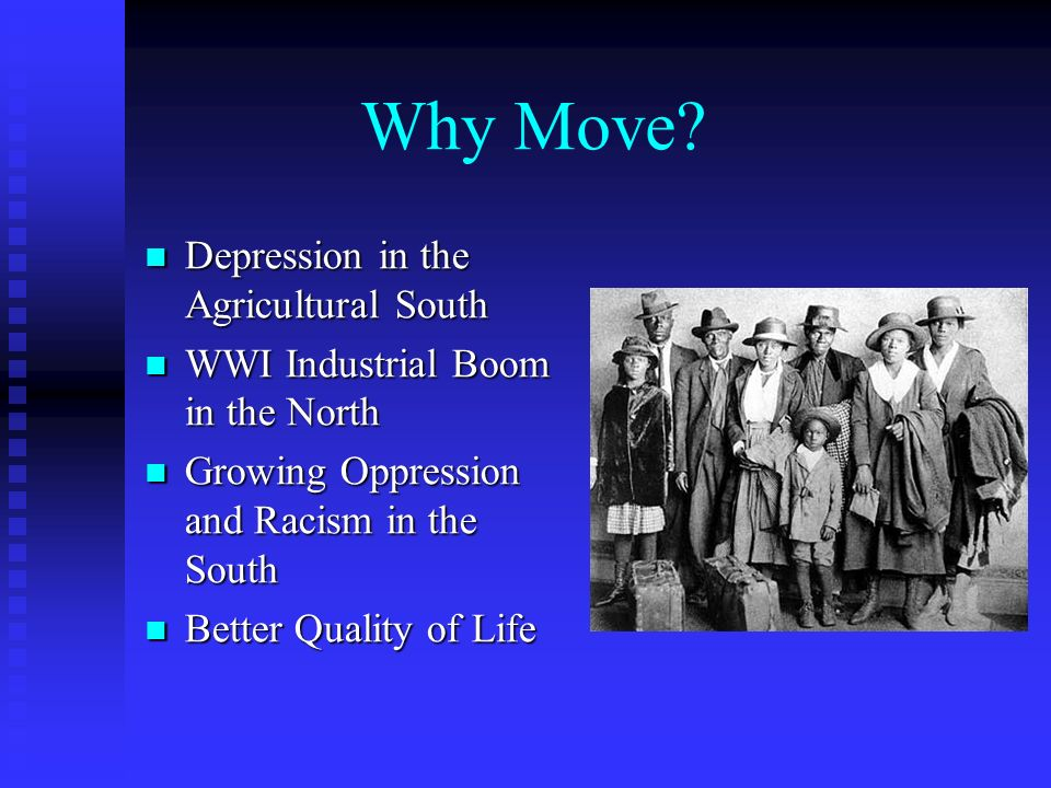 Why Move Depression in the Agricultural South
