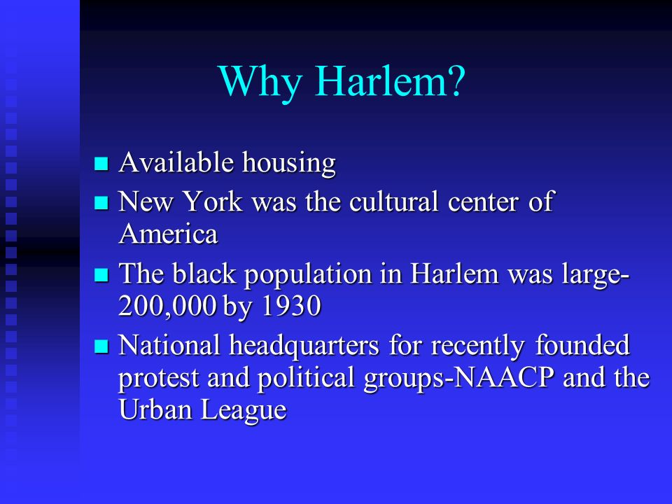Why Harlem Available housing