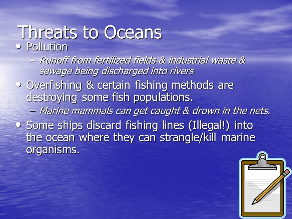 Threats to Oceans Pollution
