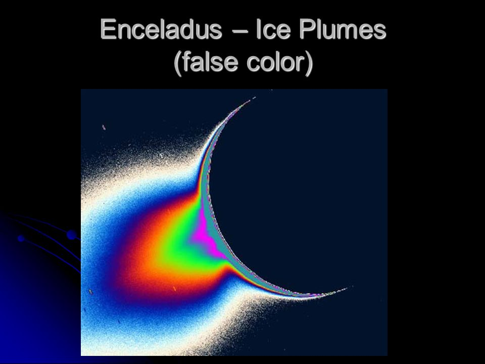 Enceladus – Ice Plumes (false color)