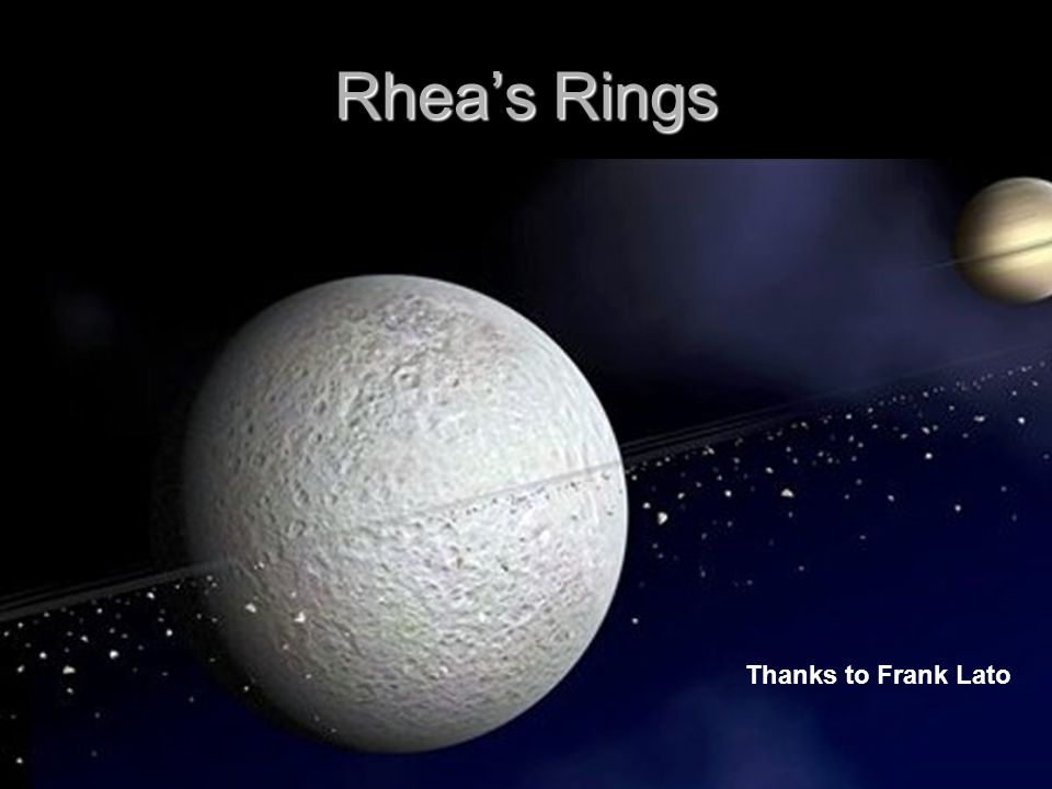 Rhea's Rings Thanks to Frank Lato