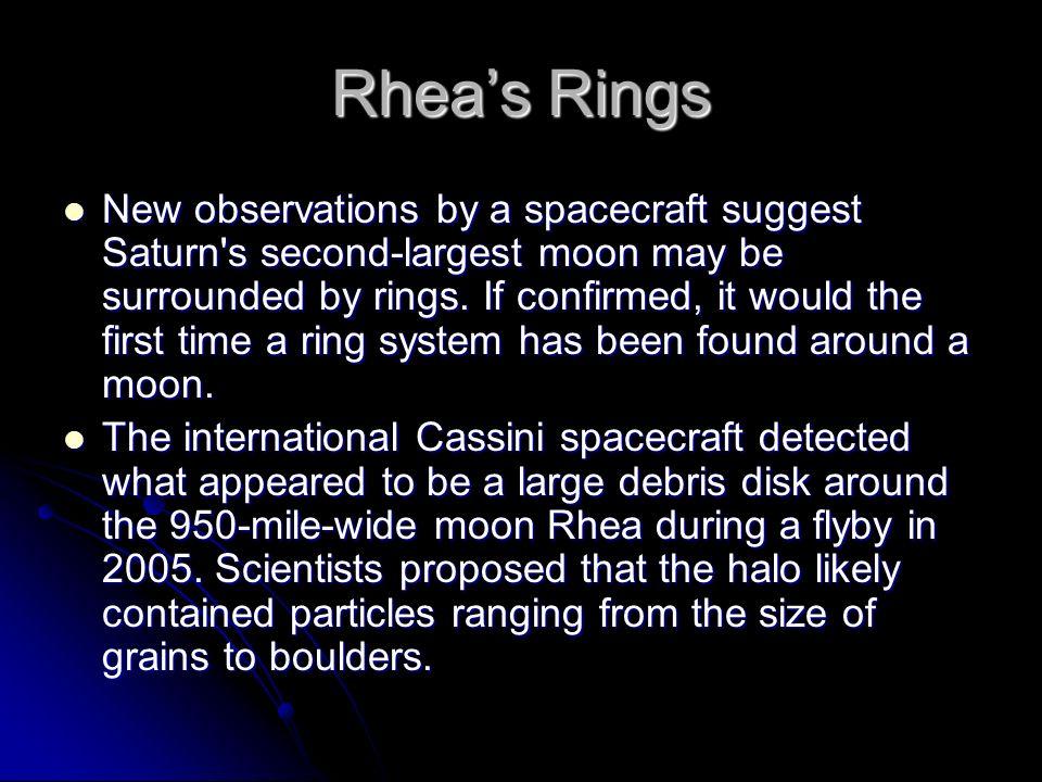 Rhea's Rings