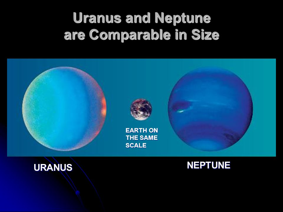 Uranus and Neptune are Comparable in Size