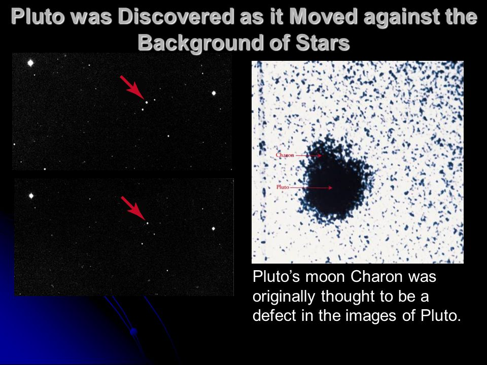 Pluto was Discovered as it Moved against the Background of Stars