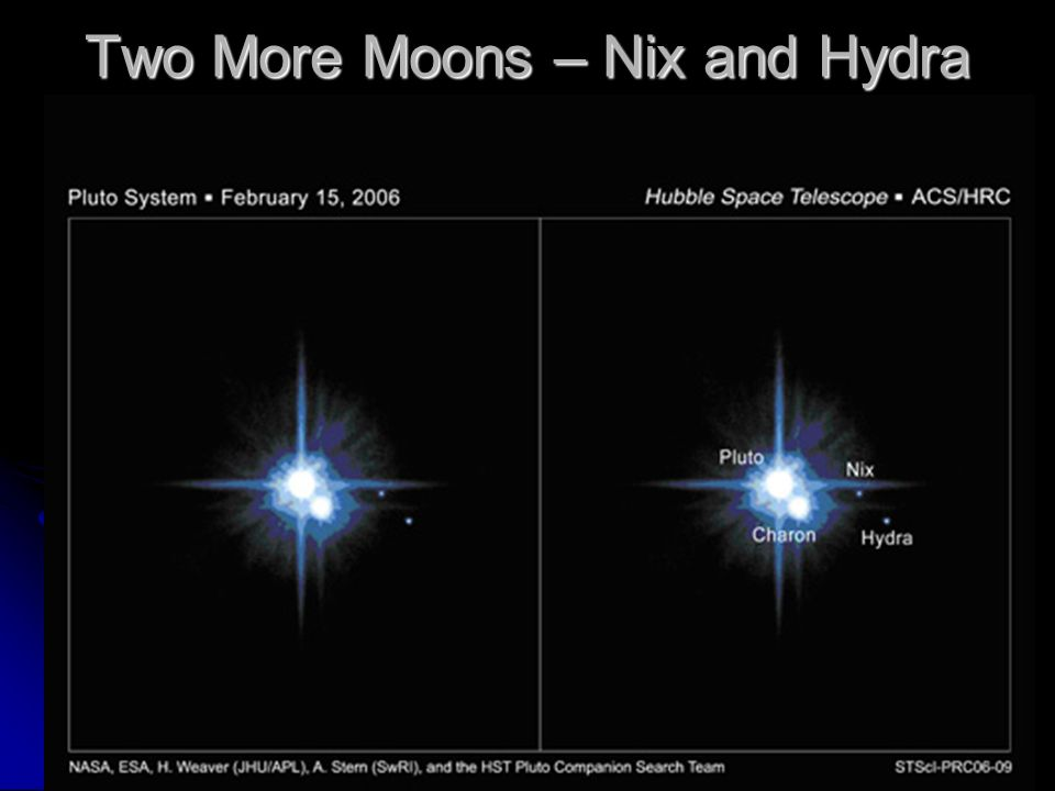 Two More Moons – Nix and Hydra
