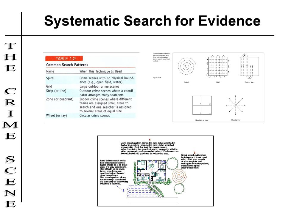 Systematic Search for Evidence