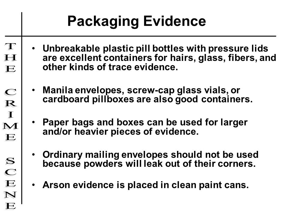 Packaging Evidence