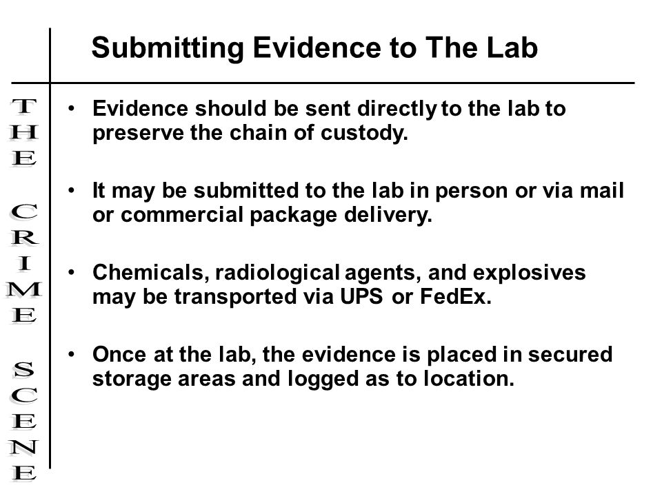 Submitting Evidence to The Lab