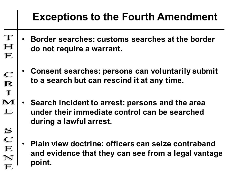 Exceptions to the Fourth Amendment