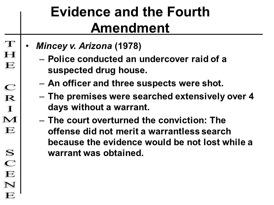 Evidence and the Fourth Amendment