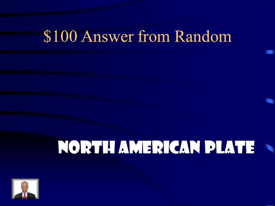 $100 Answer from Random North American Plate
