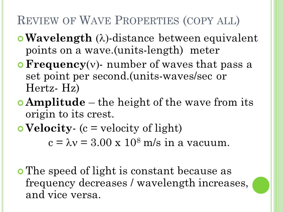 Review of Wave Properties (copy all)
