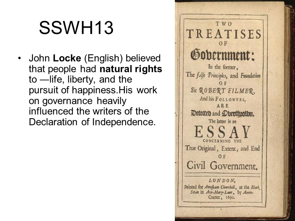 John Locke and the Second Treatise on Government