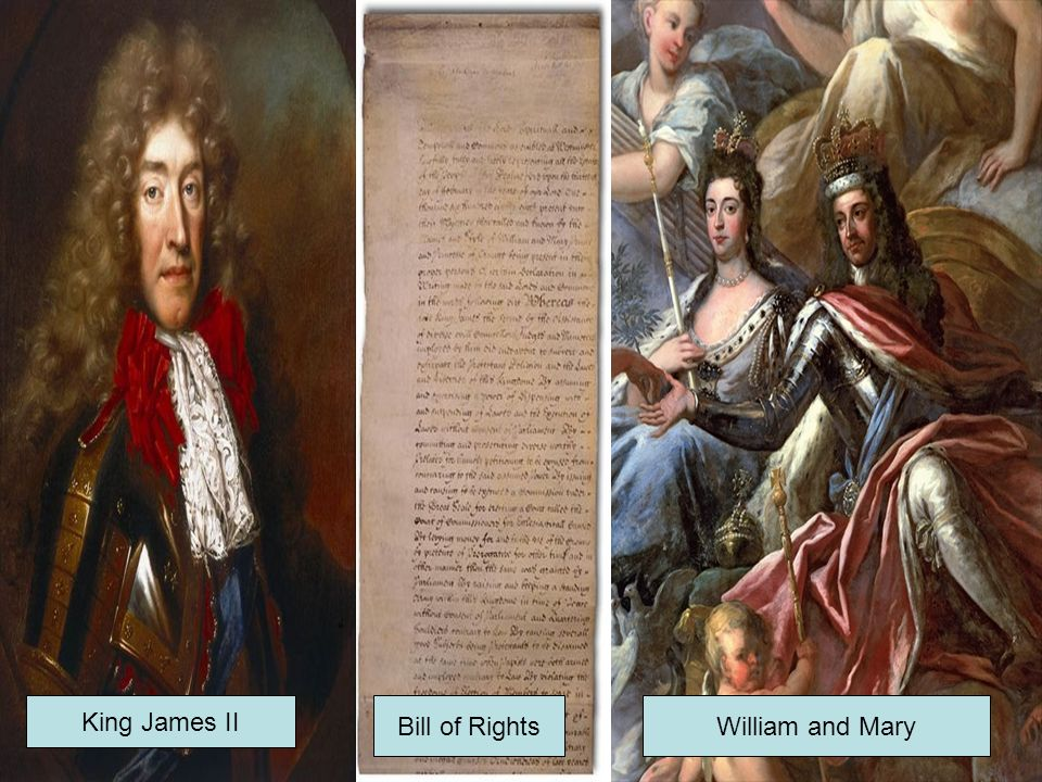 King James II Bill of Rights William and Mary
