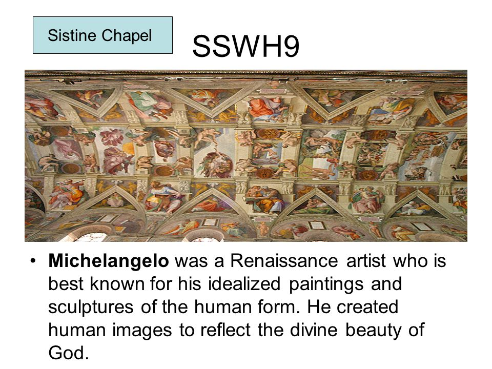 SSWH9 Sistine Chapel.