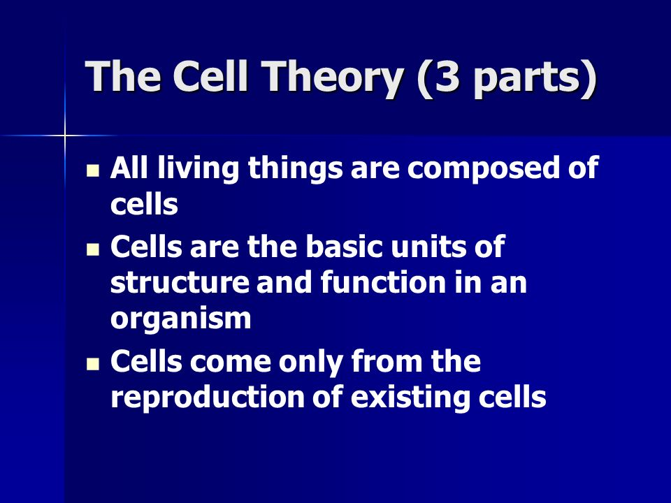 The Cell Theory (3 parts)