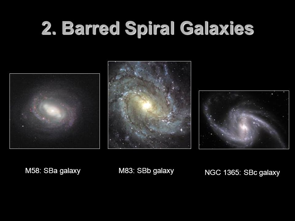 2. Barred Spiral Galaxies