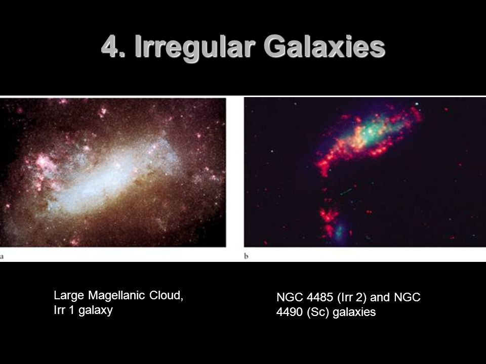 4. Irregular Galaxies Large Magellanic Cloud, Irr 1 galaxy