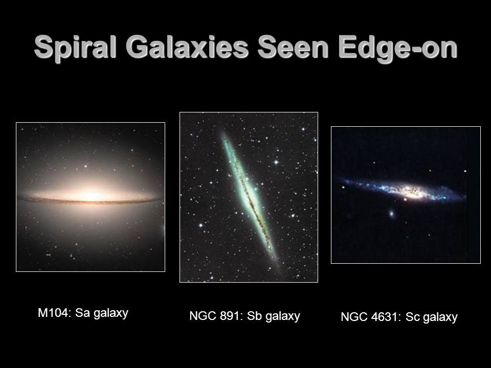 Spiral Galaxies Seen Edge-on
