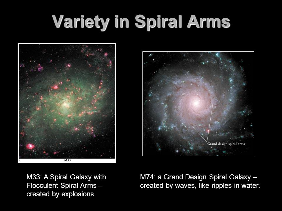 Variety in Spiral Arms FIGURE 16-4 Variety in Spiral Arms The differences in spiral.