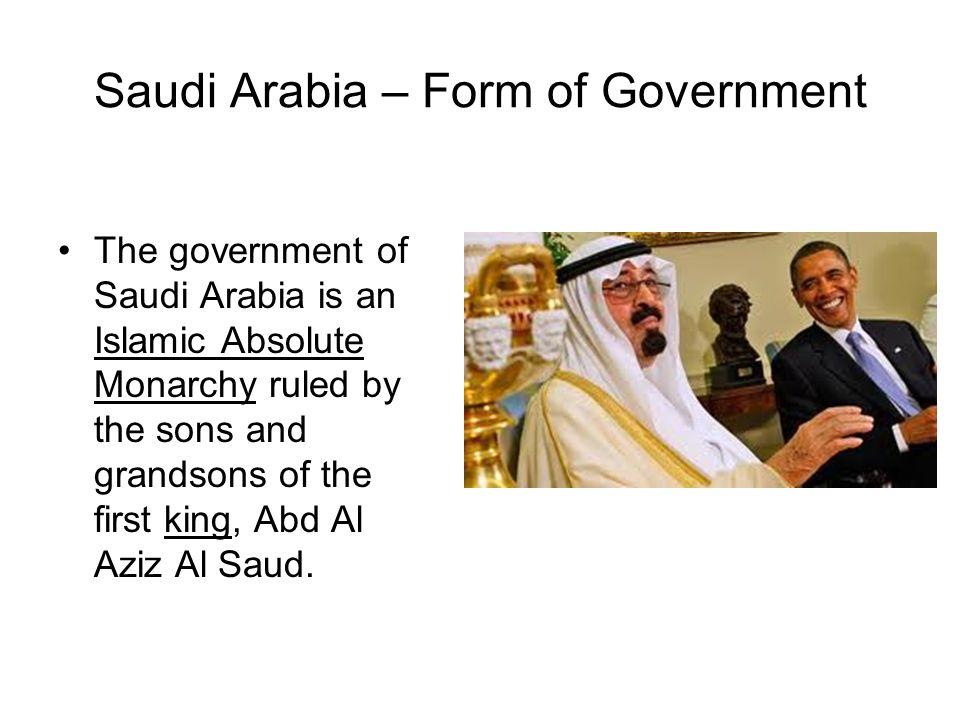 Saudi Arabia – Form of Government