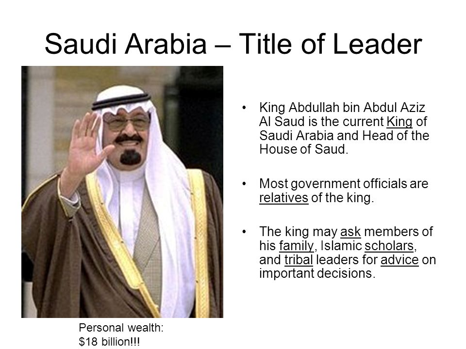 Saudi Arabia – Title of Leader