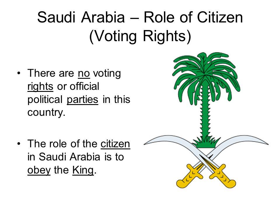 Saudi Arabia – Role of Citizen (Voting Rights)
