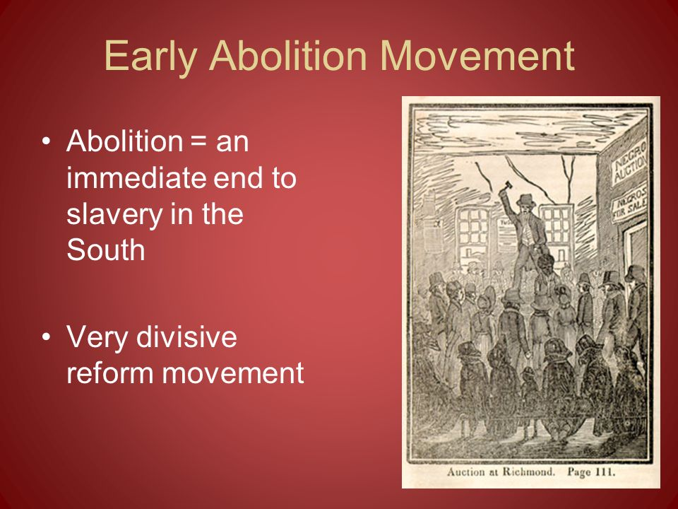 Early Abolition Movement