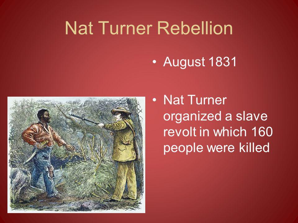 Nat Turner Rebellion August 1831