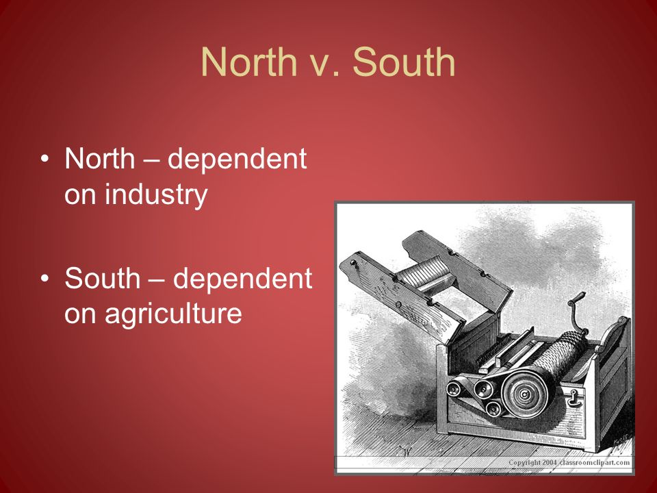 North v. South North – dependent on industry