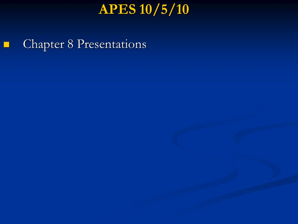 Chapter 8 Presentations