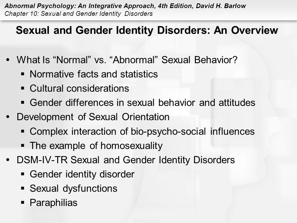 Sexual Gender Identity Disorder