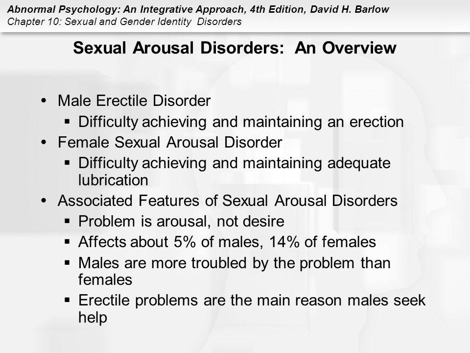 Sexual Arousal Disorder Female