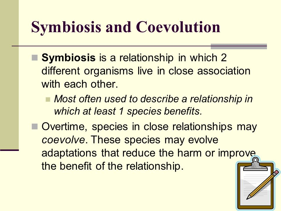 Symbiosis and Coevolution