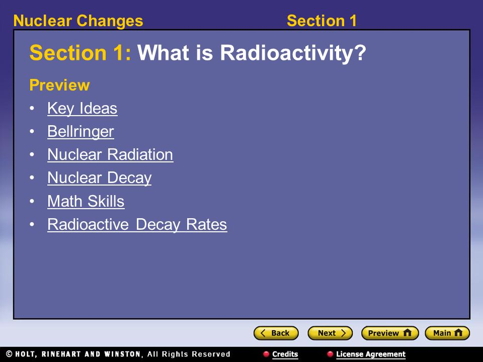 Section 1: What is Radioactivity