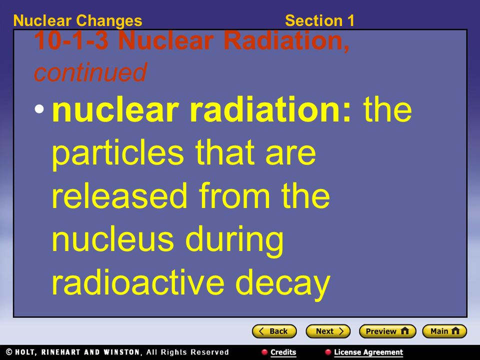 10-1-3 Nuclear Radiation, continued