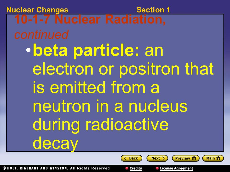 10-1-7 Nuclear Radiation, continued