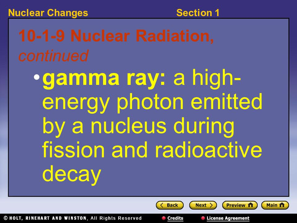 10-1-9 Nuclear Radiation, continued