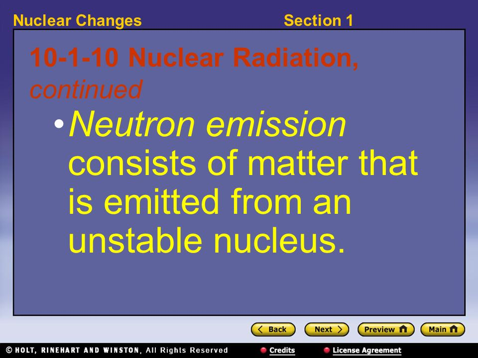 10-1-10 Nuclear Radiation, continued