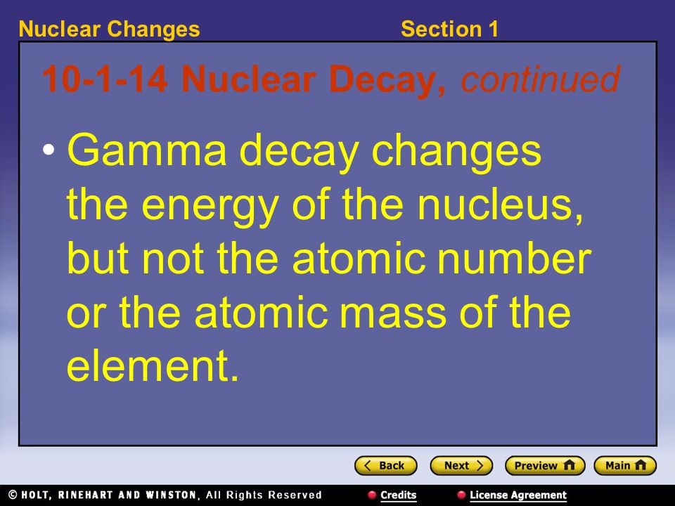 10-1-14 Nuclear Decay, continued