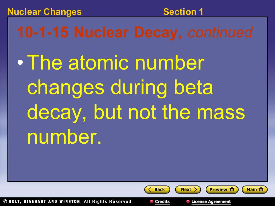 Nuclear Decay, continued