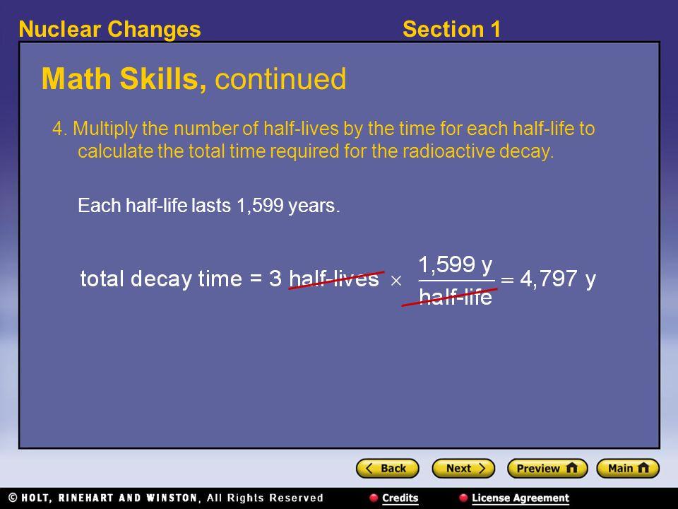 Math Skills, continued