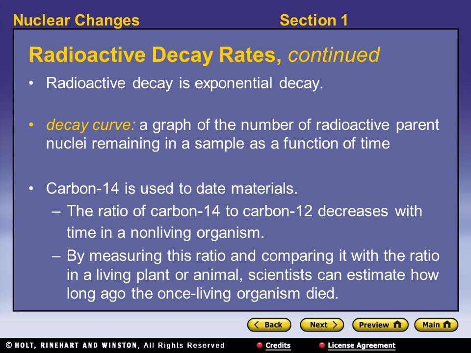Radioactive Decay Rates, continued