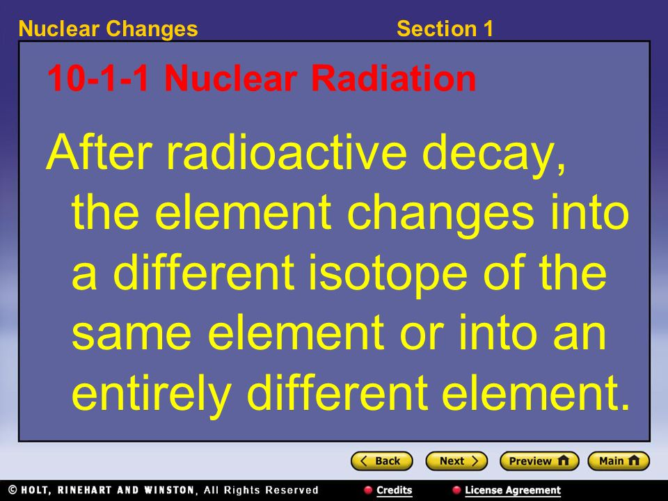 10-1-1 Nuclear Radiation