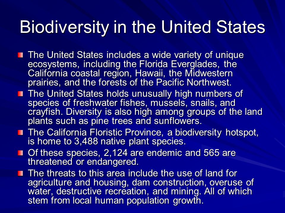 Biodiversity in the United States