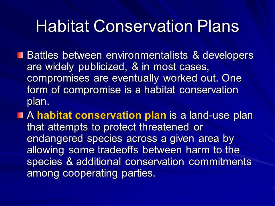 Habitat Conservation Plans